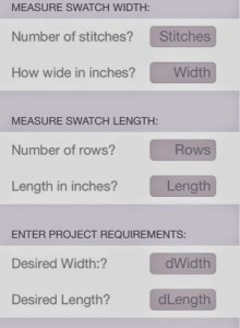 swatch and cast-on calculator