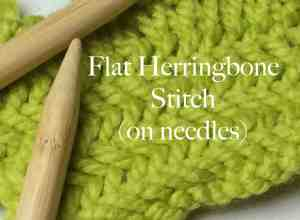 Flat Herringbone Stitch