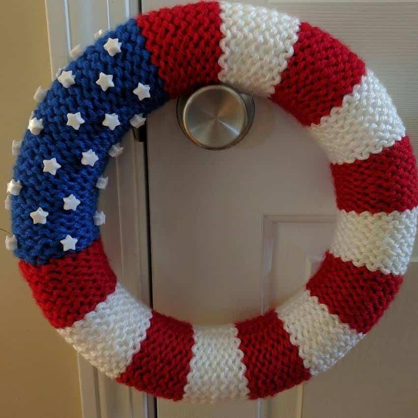 American Flag Wreath Goodknit Kisses