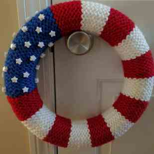 Front of American Flag Wreath