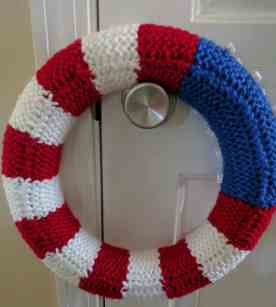 Back of American Flag Wreath