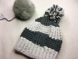 Box Stitch Knit Hat