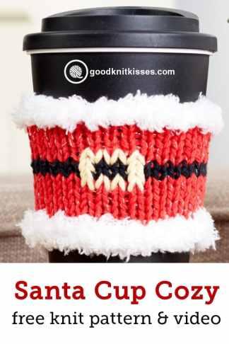santa mug hug cup cozy on cup