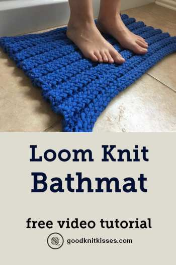 Loom Knit Batmat PIN Image