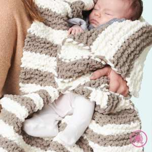 Garter Stitch Baby Blanket In a Wink Blanket Pattern pic