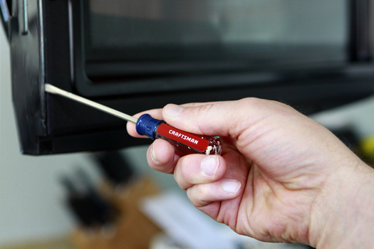 how to fix a microwave handle home