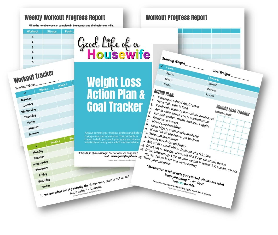Weight Loss Printable Goal Tracker And Action Plan