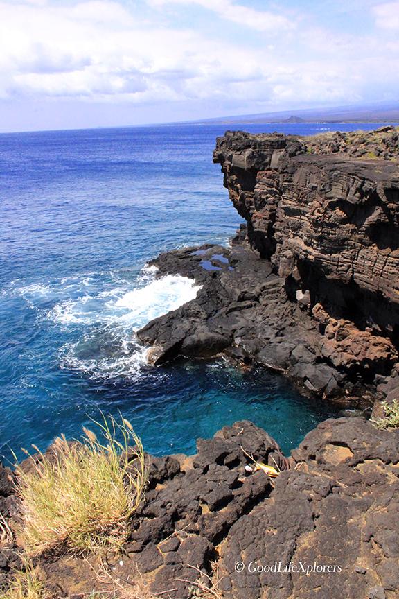 Hawaii Cliff Cave, Big Island, South Point, Travel, Ocean