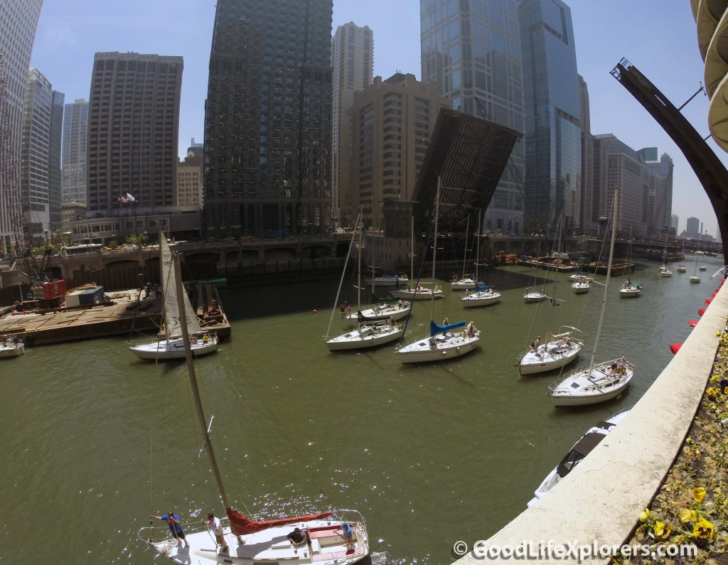 Boats at Chicago Waterway
