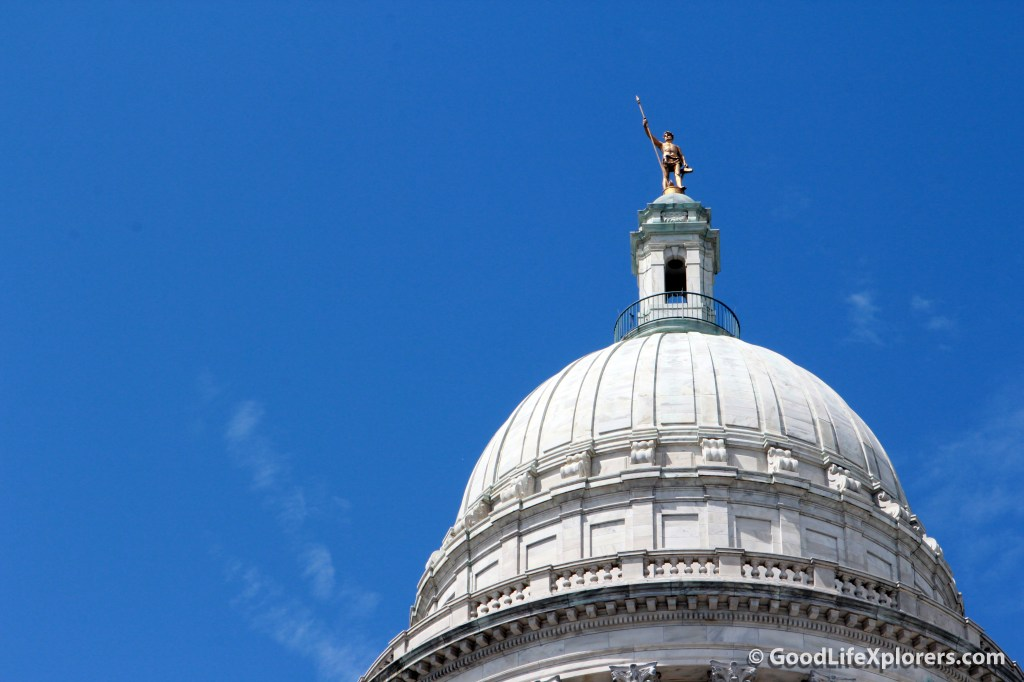 The capitol at Providence Rhode Island Close Up