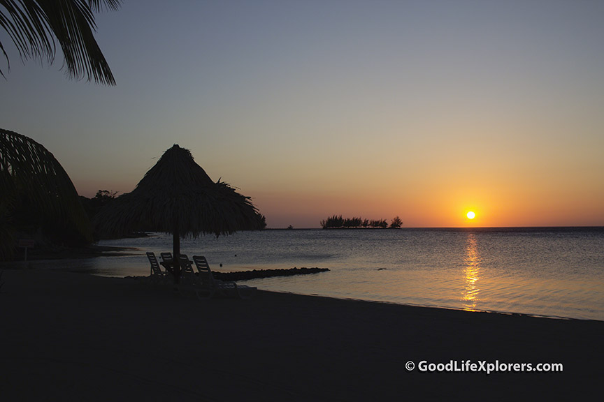 Sunset at Turquoise Bay Resort in Roatan Honduras