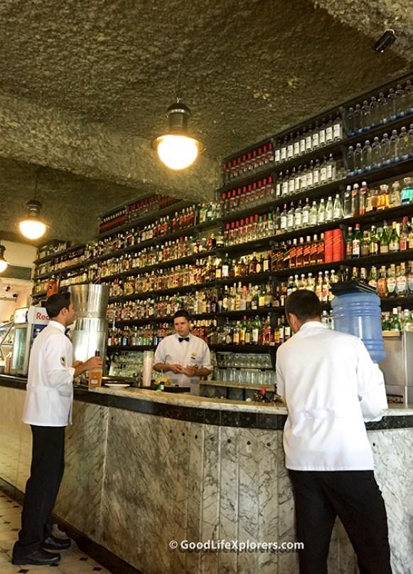 The stocked bar at Bar do Juarez