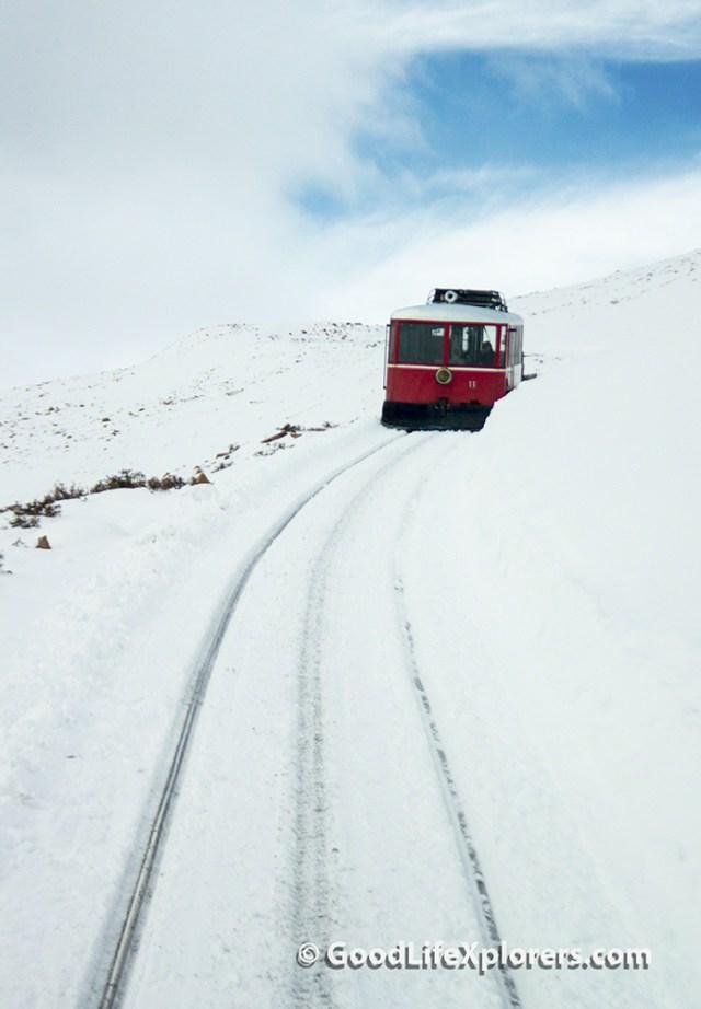 Pike's Peak Cog Railroad Disabled Train