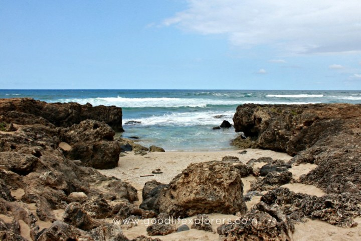 A beach at the westernmost point of Oahu, Hawaii
