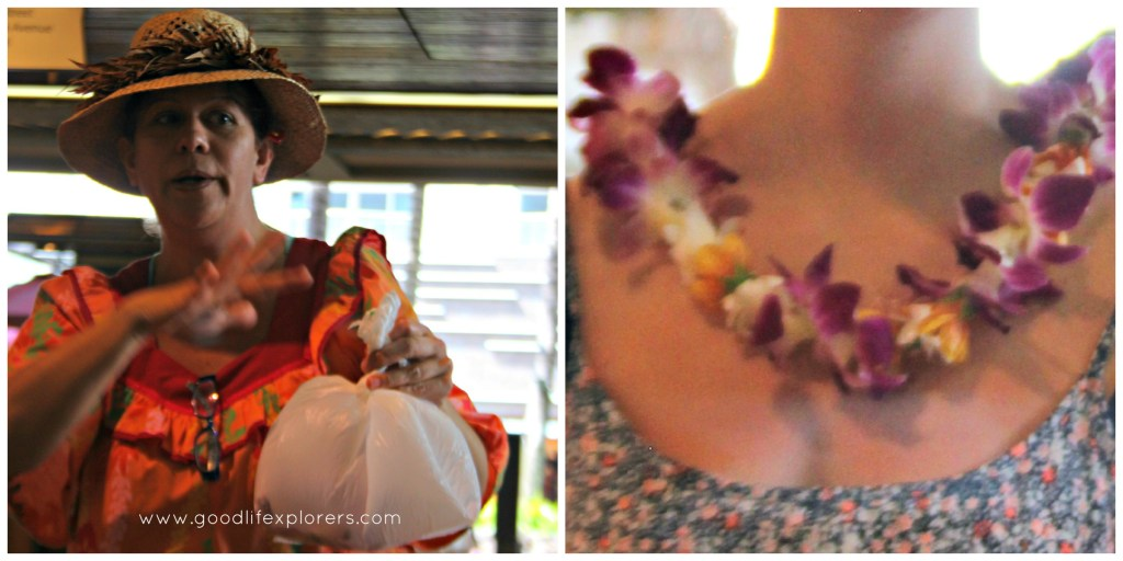 Lei Making Waikiki Oahu Honolulu Hawaii craft flower culture Aunty Bella Alexandria Byous