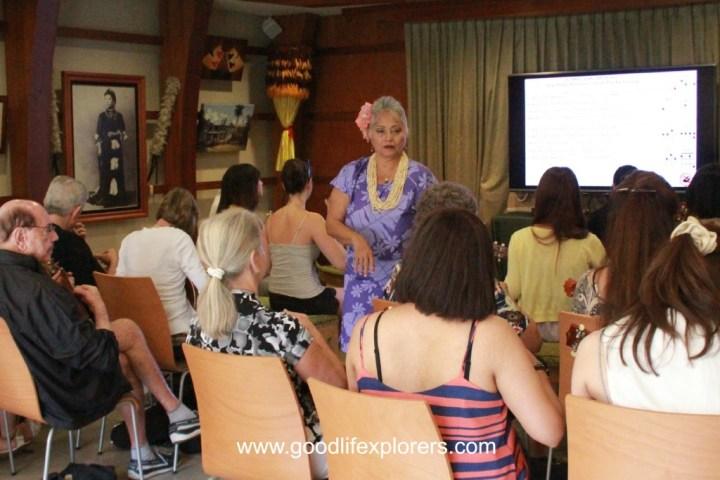 Ukelele lesson at Royal Hawaiian Center in Waikiki Oahu