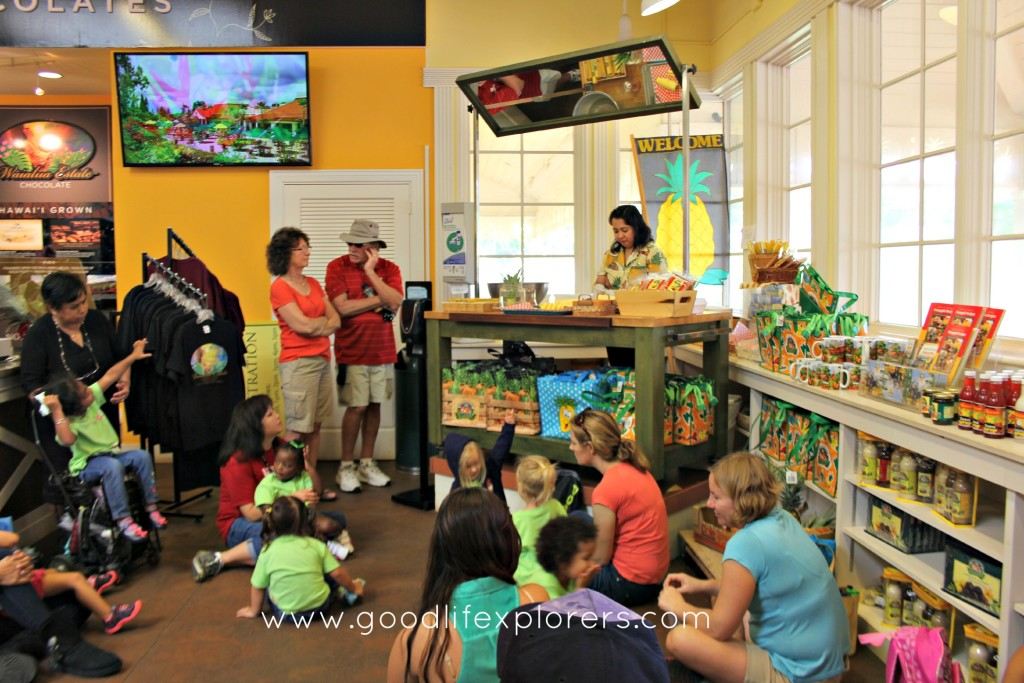 Pineapple demonstration at Dole Plantation on Oahu Hawaii