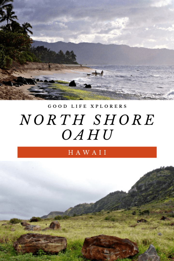 Collage of places in North Shore of Oahu, Hawaii