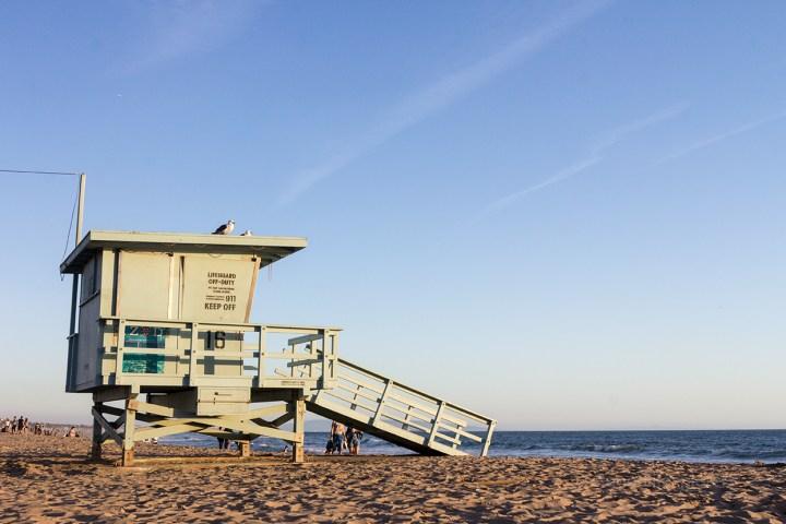 Santa Monica Beach Lifeguard Shack - Southern California