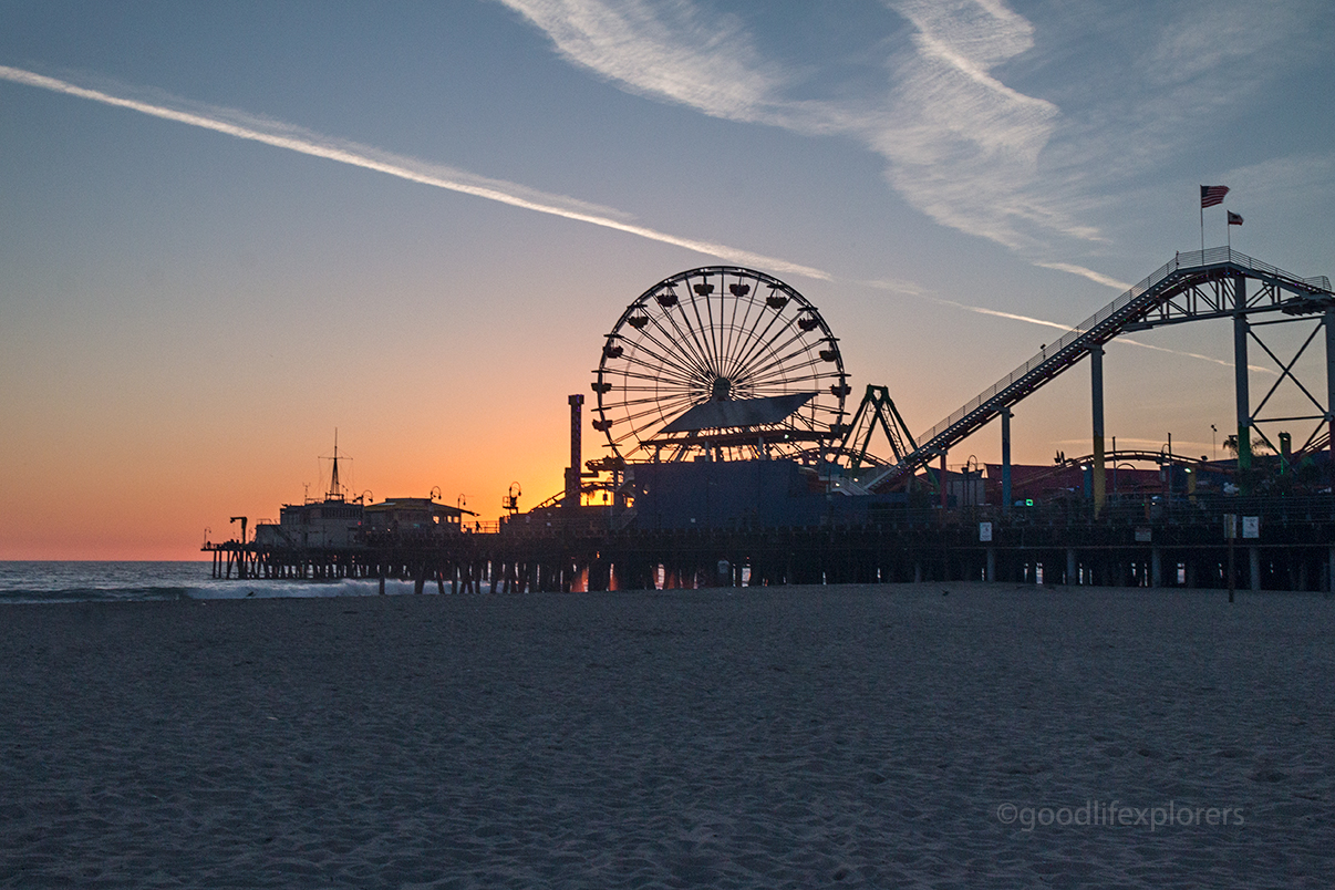 Santa Monica Pier at Sunset - Southern California