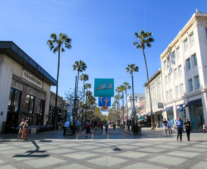 Santa Monica Beach Shopping Promenade - Southern California