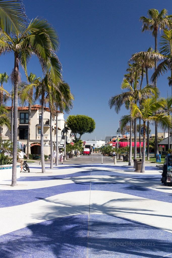 Newport Beach street in Southern California