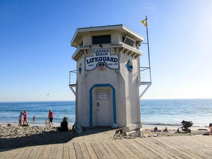 Laguna Beach lifeguard tower - Southern California