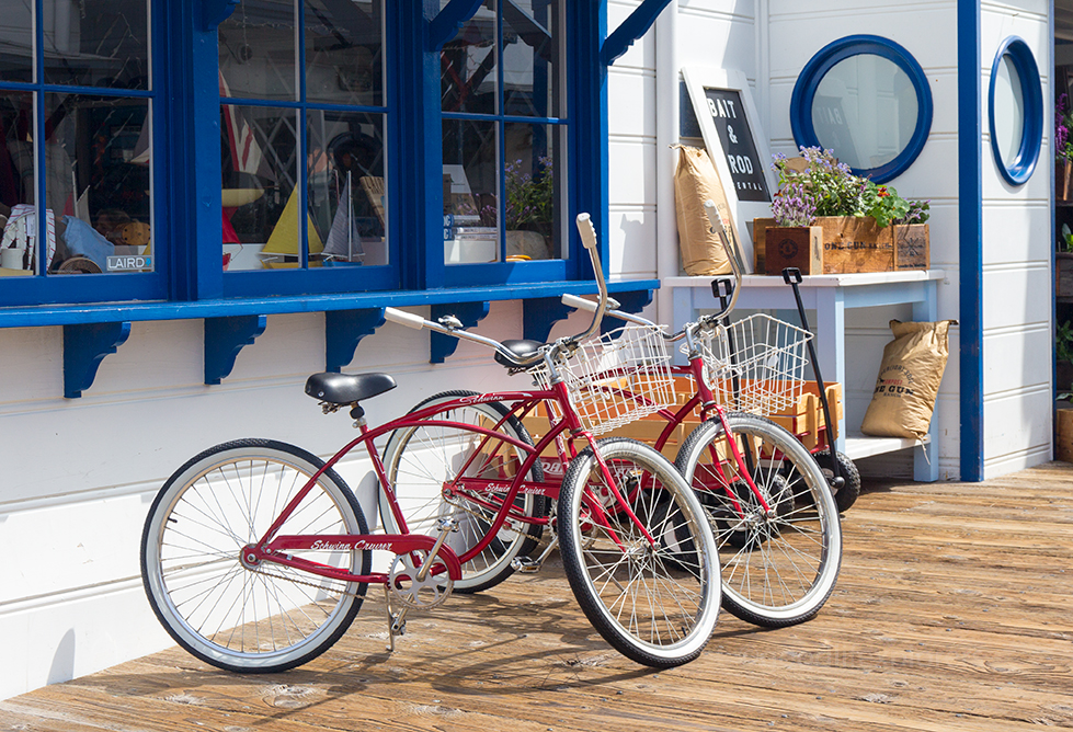 Bikes for rent on Malibu Pier