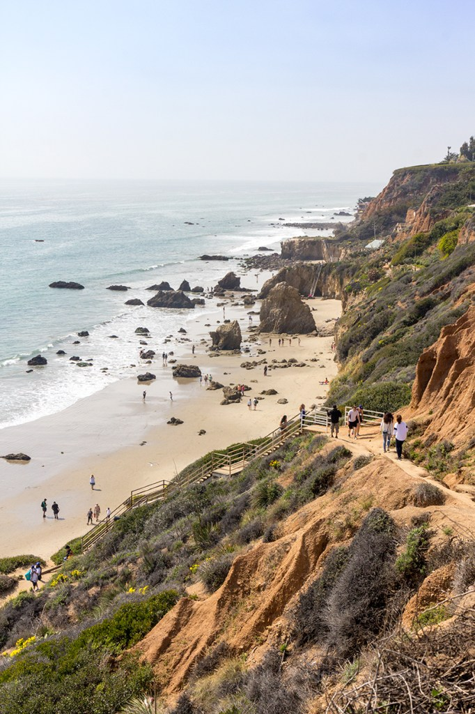 El Matador state park beach seen from above in Malibu California