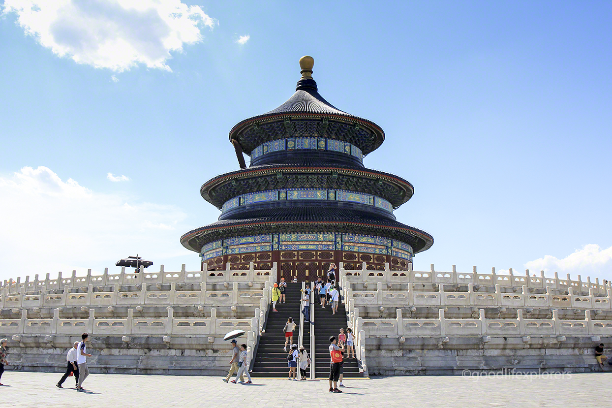 Temple of Heaven main building with marble base, Beijing, China