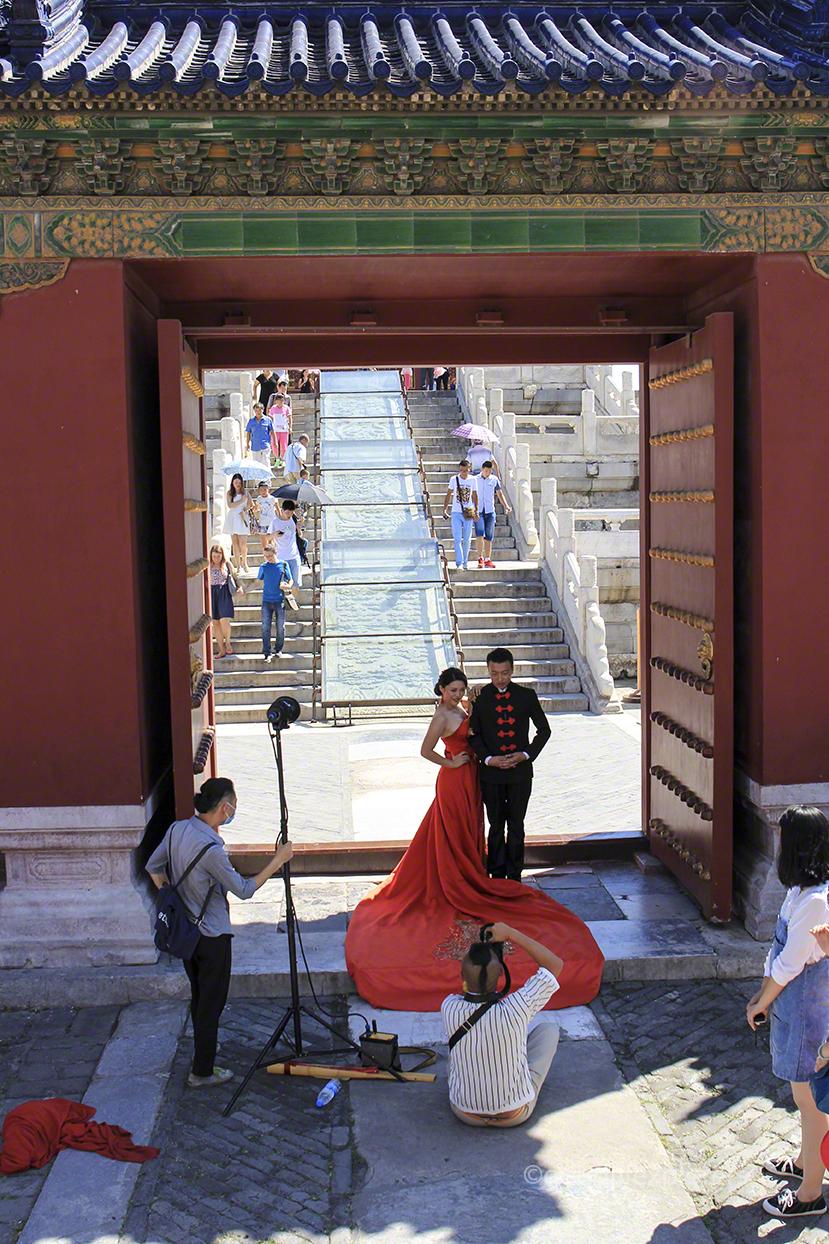 Engagement shot in Beijing China