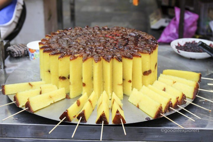 Cake slices at the Muslim Quarter in Xi'an China