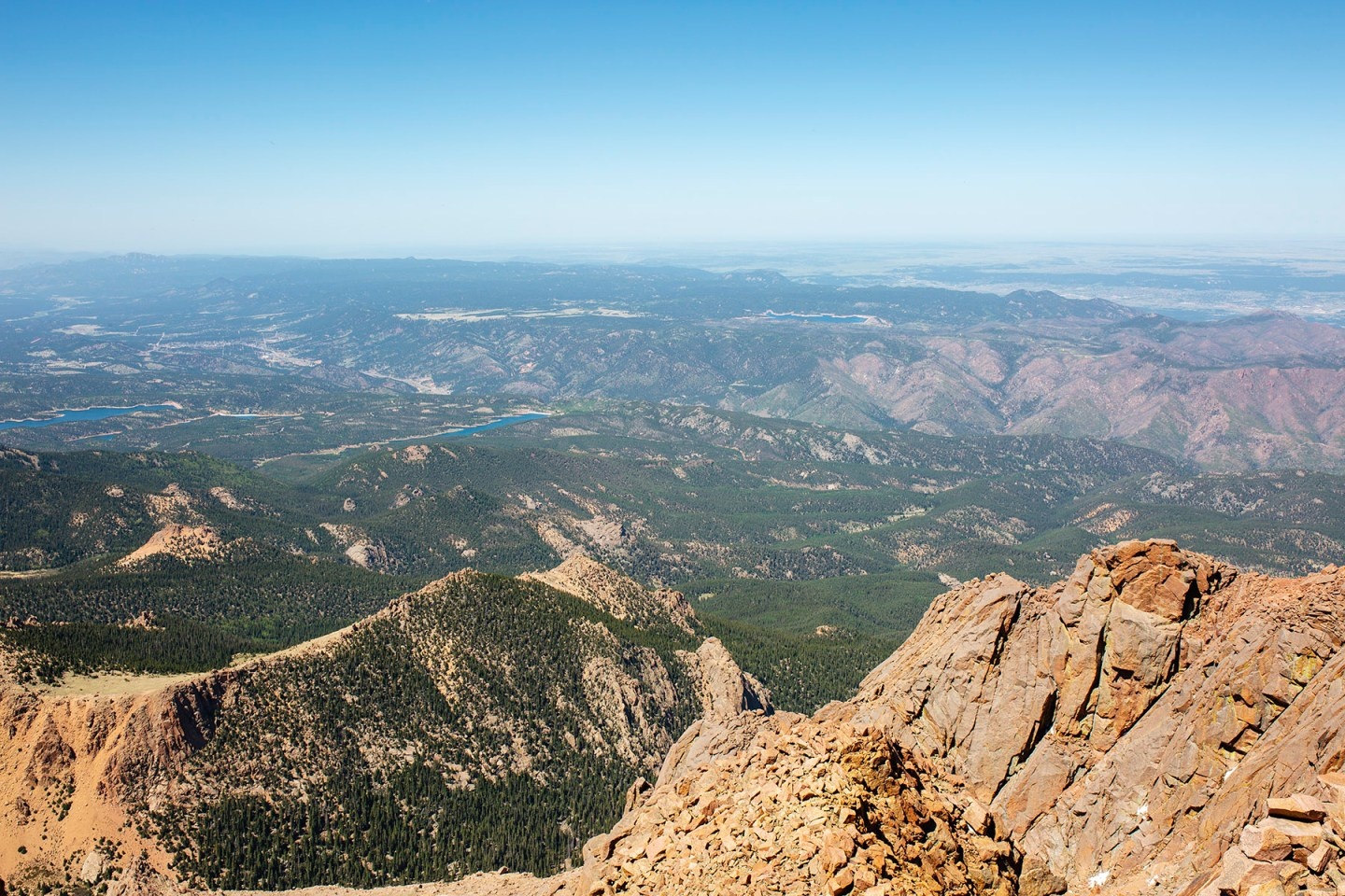 The view from the top of America's Mountain