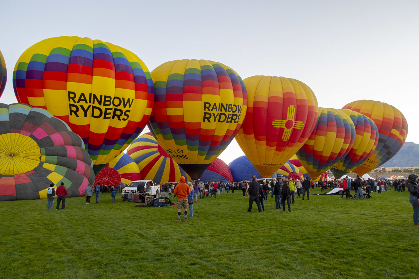 Rainbow Ryders balloons at Albuquerque Balloon Fiesta in New Mexico