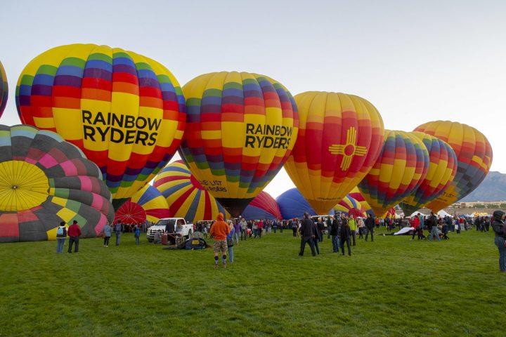 Rainbow Ryders balloons at Albuquerque Balloon Fiesta in New Mexico