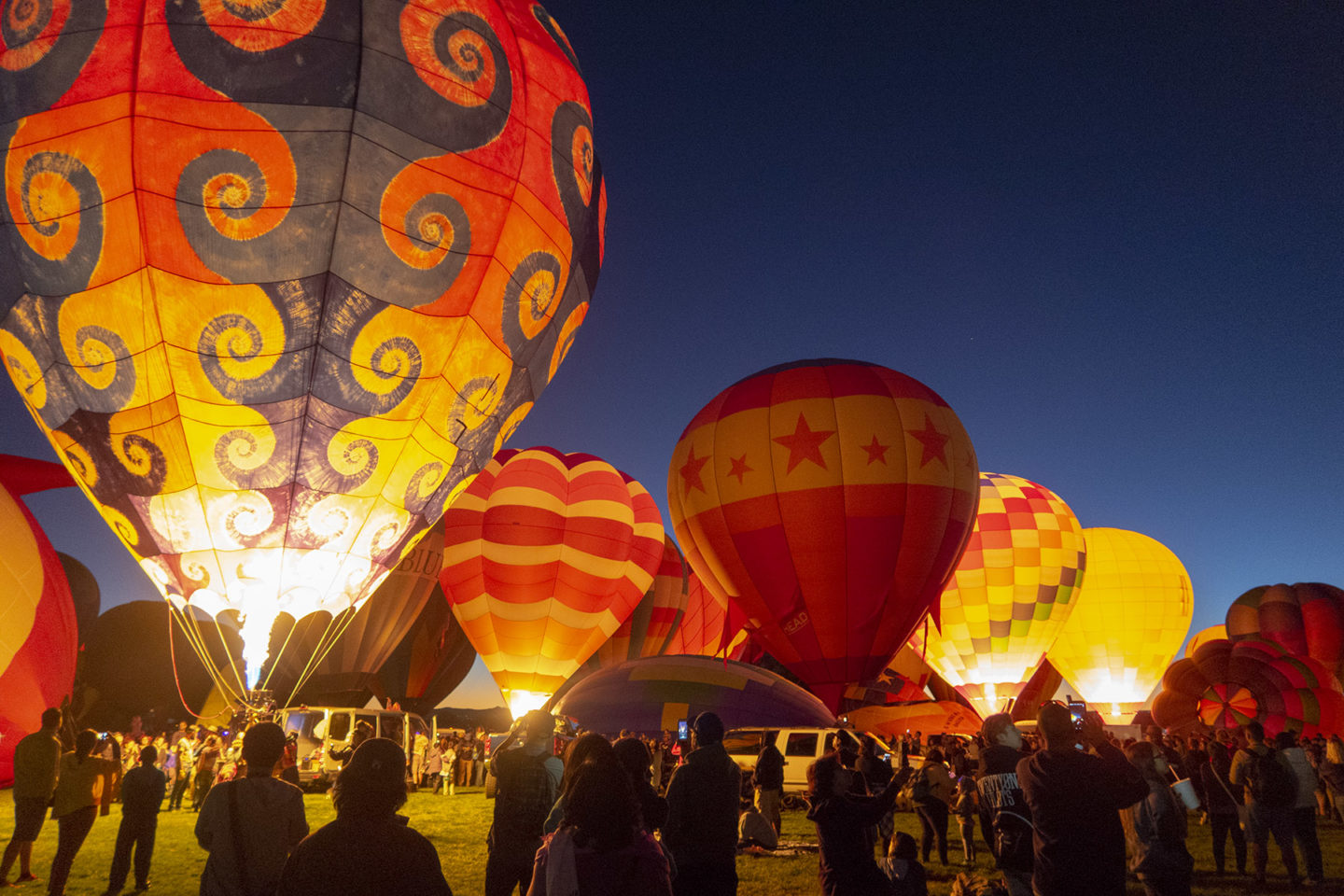Night Glow session at Albuquerque Balloon Fiesta