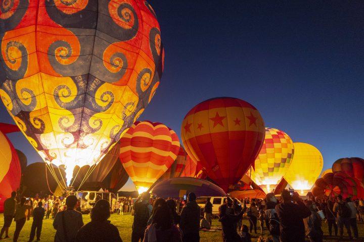 Night Glow session at Albuquerque Balloon Fiesta