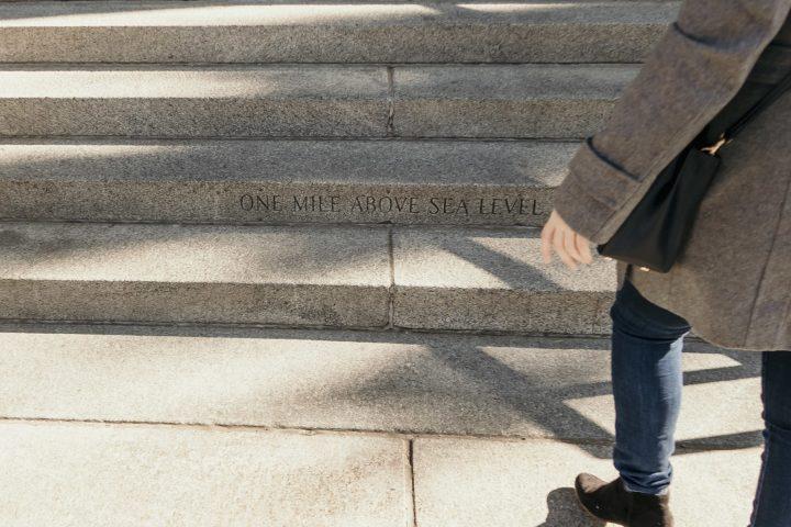 One Mile above sea level in Colorado State Capitol in Denver Colorado