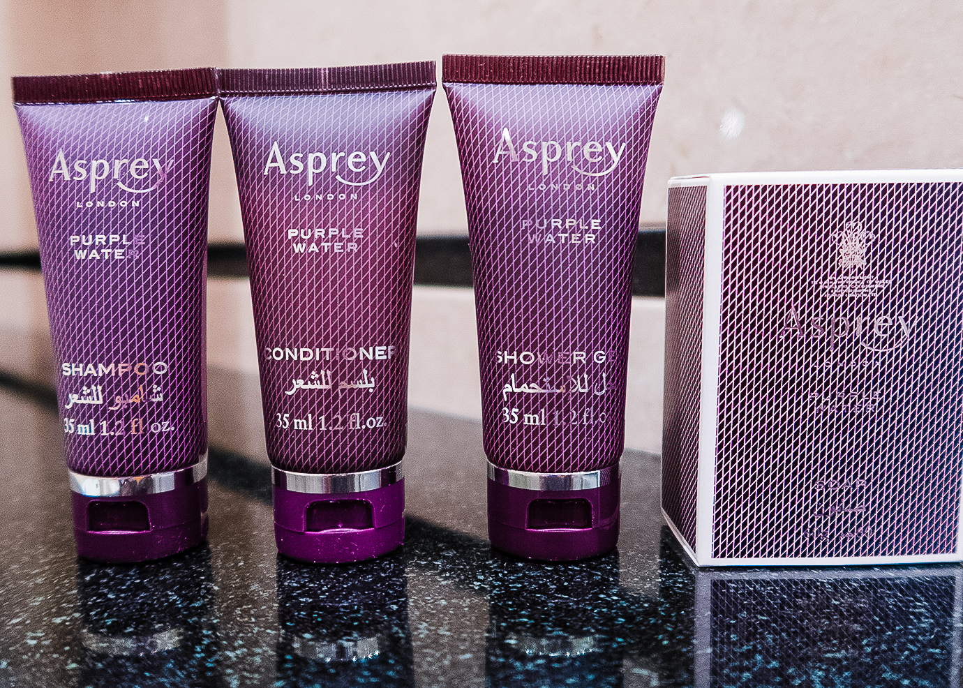 Asprey of London toiletries at Ritz Carlton of Saudi Arabia