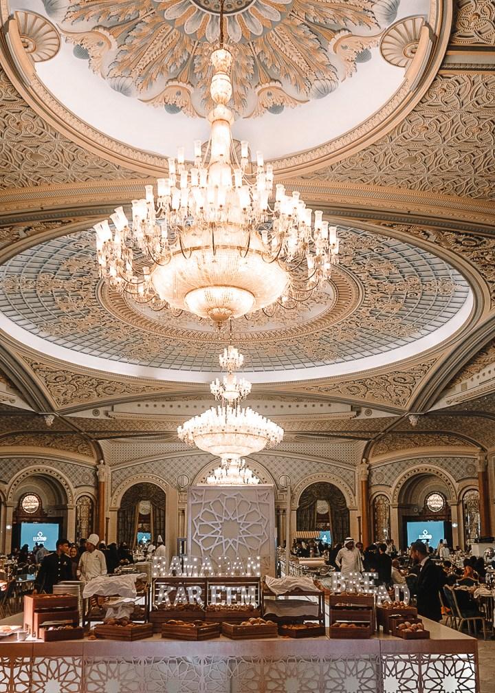 Restaurant during iftar at Ritz Carlton of Saudi Arabia