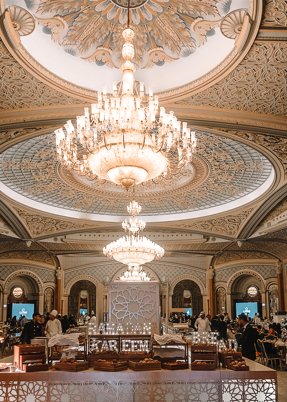 Restaurant during iftar at Ritz Carlton of Saudi Arabia