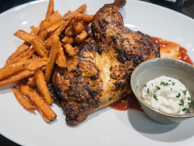 Piri Piri Chicken dinner with sweet Potato fries from Grain and Grill restaurant in Dublin Ireland