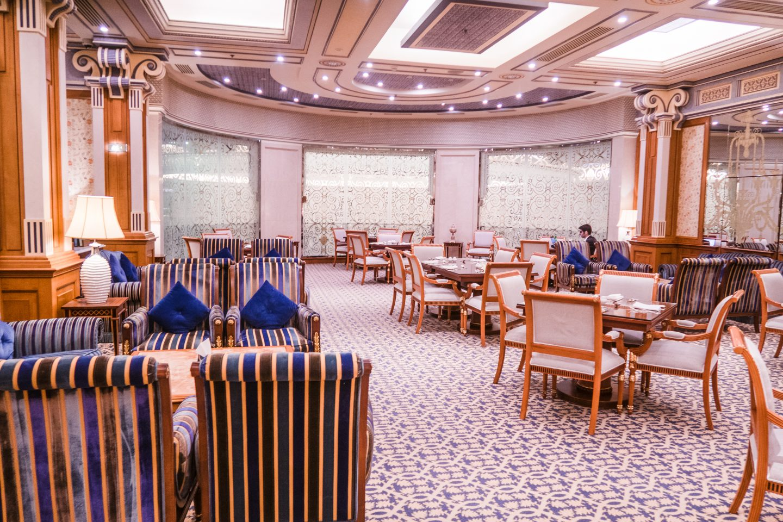 The Club level lounge at Ritz Carlton in Riyadh Saudi Arabia