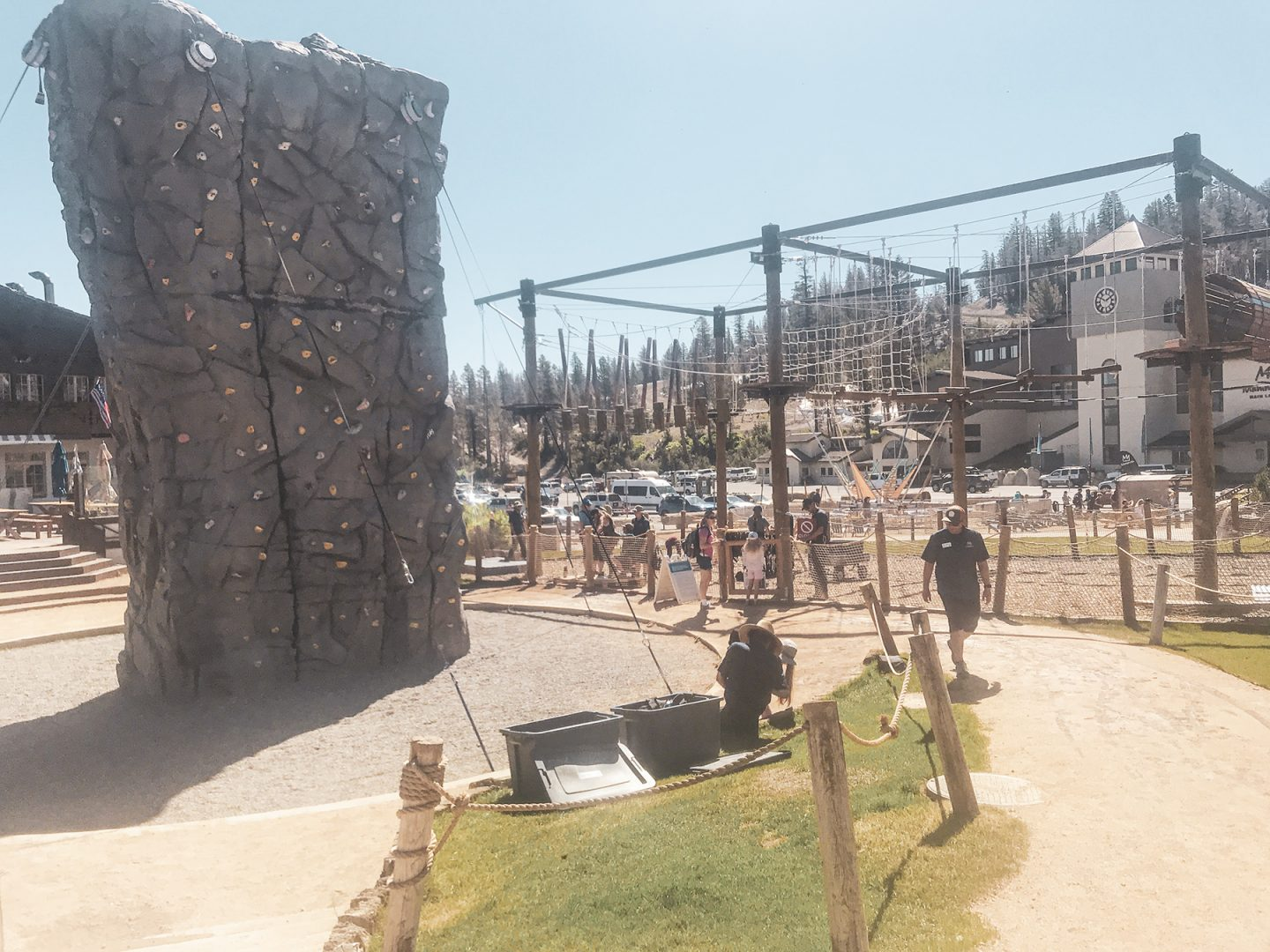 Mammoth Mountain Adventure Center Rock climbing wall