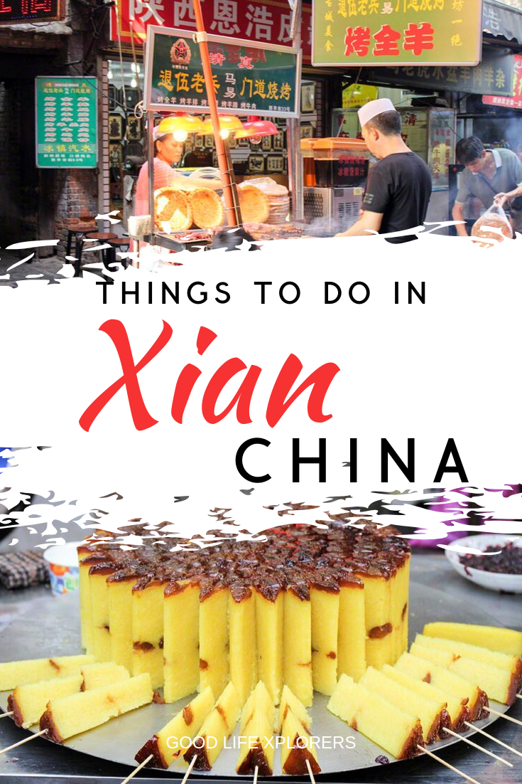 The Muslim Quarter in Xian China and local food