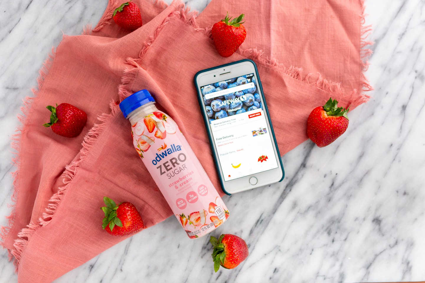 Odwalla zero sugar smoothies and Safeway mobile app