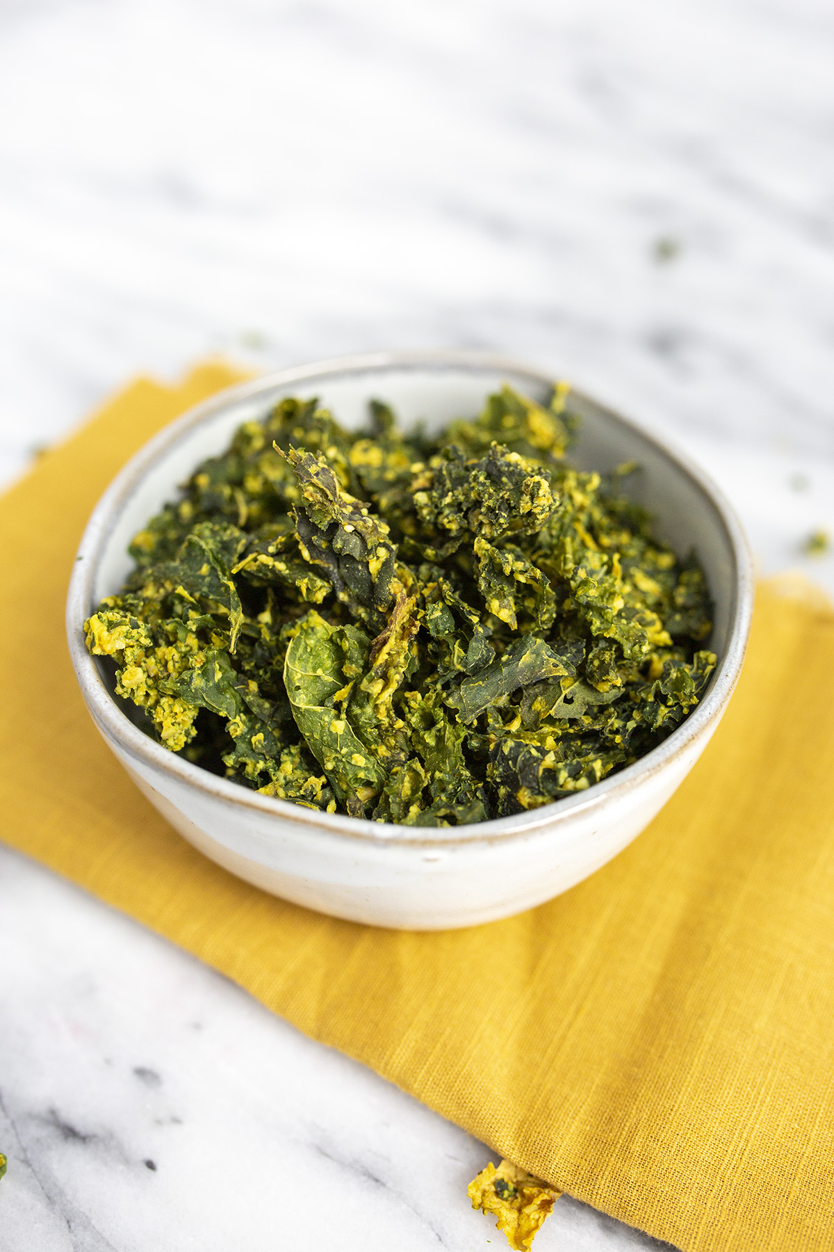 Kale chips with cheese are a great store bought healthy snack
