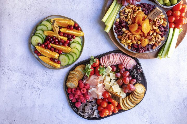 how to set up a snacking station for your holiday party