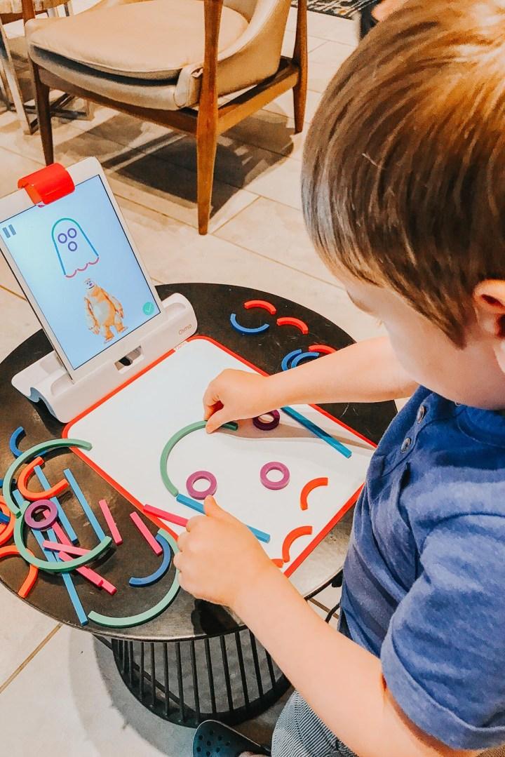 Osmo Little Genius Kit, Homeschooling on the road