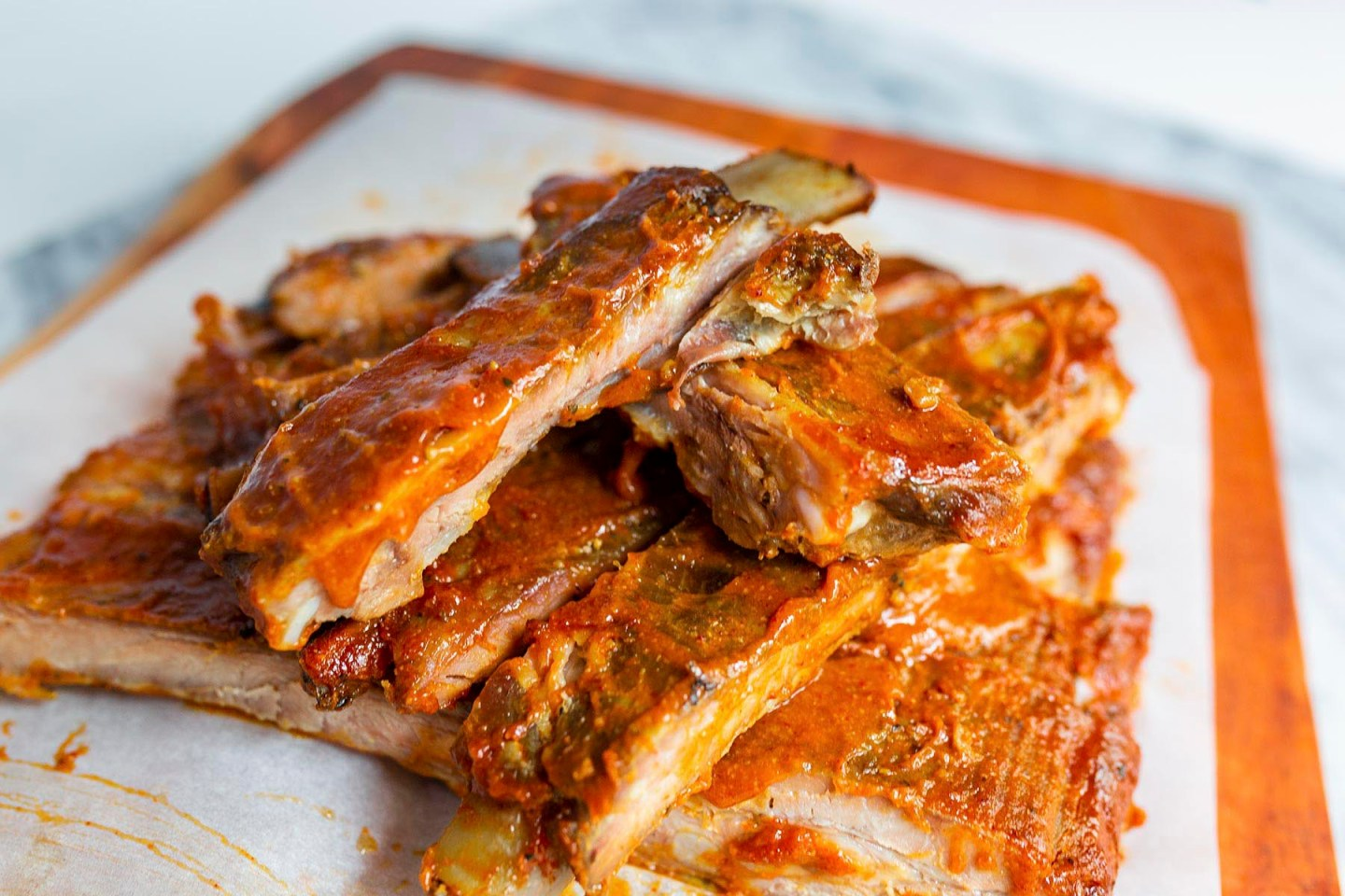Pork Ribs Slow Roasted in the Oven